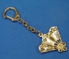Golden Fan Key Chain