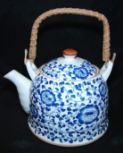 Blue Teapot w/ Flower Pictures