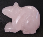 Rose Quartz Rat Statue