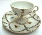 Porcelain Coffee Cup w/ Plate