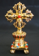 Double Metal Vajra with Stand