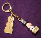 5 Element Pagoda Keychain with Tree of Life