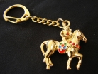 Bejeweled Monkey on Horse Talisman