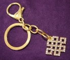 Bejeweled Mystic Knot Keychain