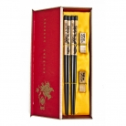 Chinese Chopsticks with Pictures of Double Dragons