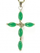 Jade Cross Pendant