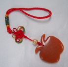 Orange Jade Apple Charm