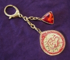 Red Dragon Amulet With Red Jewel
