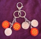 Double Ring Magic Fire Wheel Amulet