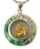 Jade Pendant with Golden Buddha Inside
