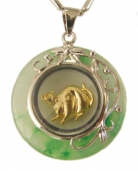 Golden Rat Pendant