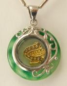 golden snake pendant