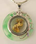 Golden Dog Pendant