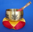 Singing Bowl with 8 Auspicious Objects
