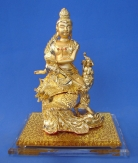 Brass Kwan Yin Riding on Phoenix