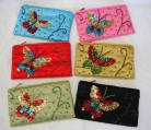 Beaded Purse with Butterfly Picture