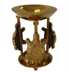 Brass Incense Oil Burner with Turtle Design