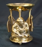 Brass Incense Oil Burner with Buddha Design
