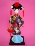 Chinese Collectible Doll with Chinese Lantern
