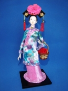 Chinese Collectible Doll with Basket