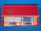 Porcelain Chopsticks with Pictures of Blue Dragons