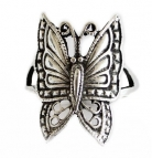 Silver Butterfly Ring for Ladies