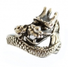 Silver Dragon Ring for Men