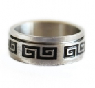 Silver Spinner Ring with Longevity Symbol
