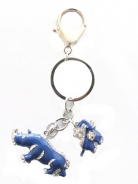 Blue Rhino and Elephant Amulet