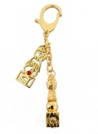 Double 5 Element Pagoda Keychain with Tree of Life