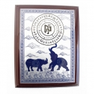Blue Rhinoceros and Elephant Plaque