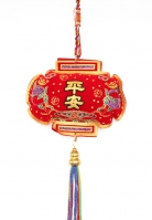 Safety Charm with 5-Color Tassels and Strings