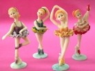 Set of Dancing Ballet Dolls