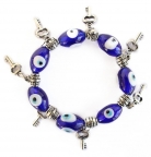 Evil Eye Bracelet with Keys