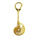 Golden Ammonite Snail Shell Amulet