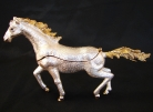 Bejeweled White Horse