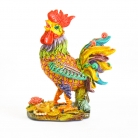 Colorful Standing Rooster Statue