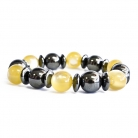 Magnetic Bracelet - Yellow and Black