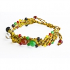 Feng Shui Bracelet with 5 Big Color Beads