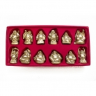 Set of 12 Buddha Statues