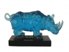 Blue Rhinoceros Statue