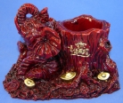 Red Elephant Statue w/ Pen Holder