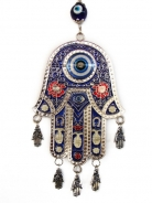 Hamsa with Blue Evil Eyes
