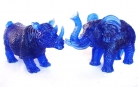 Blue Rhino and Elephant