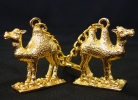 Pair of Golden Camels Keychain