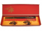 Set of Chinese Chopsticks with Pictures of Dragon Phoenix