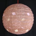 2 of Brown Paper Lanterns with Flower Pictures
