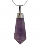 Big Drop-Shaped Amethyst Pendant