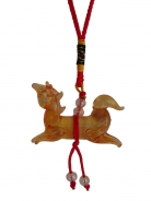 Orange Glass Horse Charm