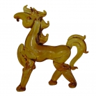 Orange Glass Horse Statue